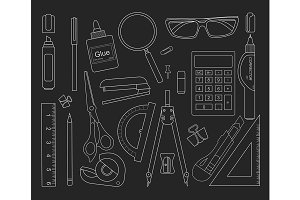 Stationery tools. Vector