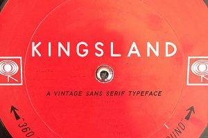 Kingsland | A Vintage Sans Serif