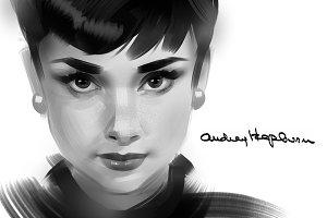 Portraits of Audrey Hepburn