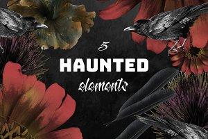 5 Haunted & Spooky Elements Bundle