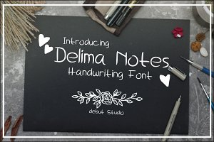 Delima Notes - Handwriting Fonts