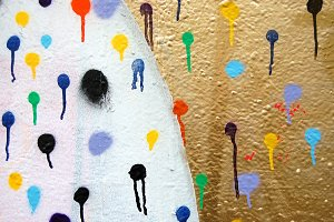 Spray Paint Dots Background