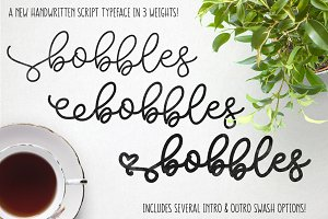 Bobbles: Script Font in 3 Weights