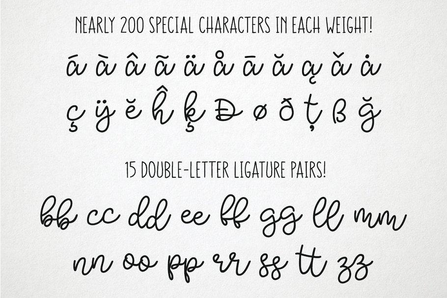 Best Bobbles: Script Font in 3 Weights Vector