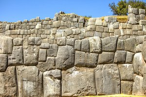 Inca wall of perfectly fitting rocks