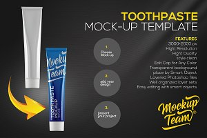 Toothpaste mock-up template