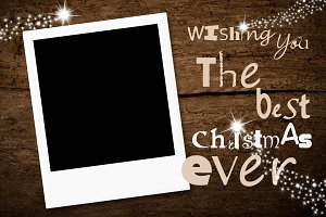 Christmas greeting card photo frame