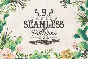 9 Vector seamless patterns
