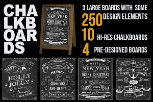Huge library of chalkboard designs