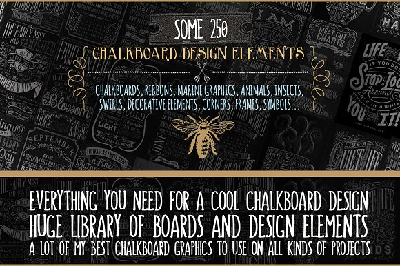 huge library of chalkboard designs graphic objects creative market