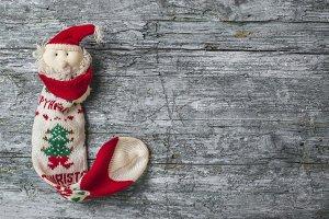 Santa Christmas sock