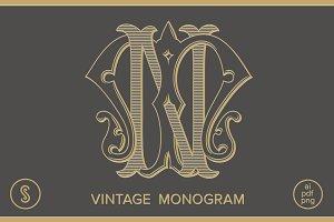 MN Monogram NM Monogram