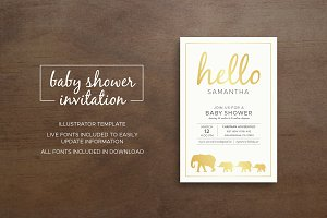 Zoo Baby Shower Invitation