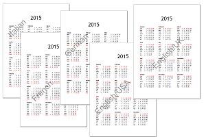 2015 calendar (multilingual)