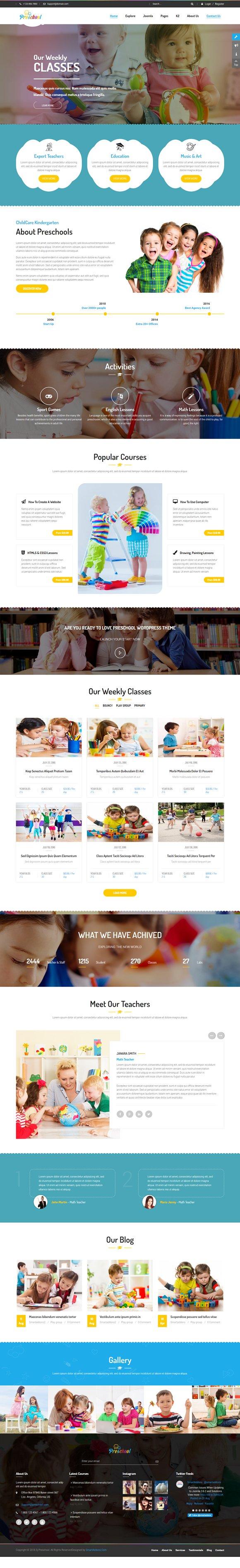 Preschool - Kidcare/Education Theme