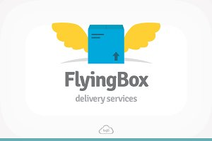 Flying Box Logo Template