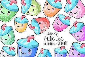 Kawaii Boba Tea Clipart