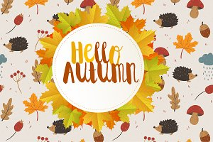 Hello Autumn, autumn badge