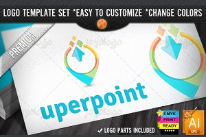 3D Arrows SEO Up Down Point Logo