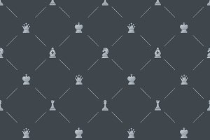 Luxury pattern with chess symbols