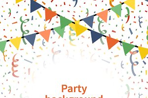 Party a4 size vertical background