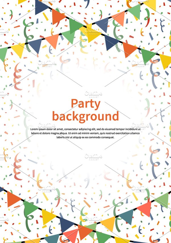 party a4 size vertical background illustrations creative market
