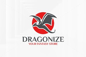 Dragonize Logo Template