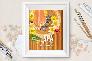 Pedicure spa poster