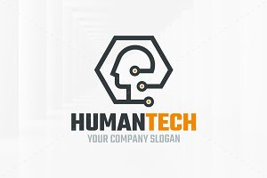 Human Tech Logo Template