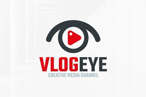 Vlog Eye Logo Template