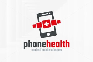 Phone Health Logo Template