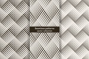 Halftone seamless zigzag backrgounds