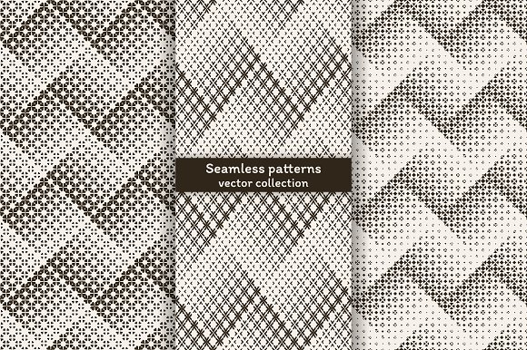 Halftone seamless zigzag backrgounds in Patterns