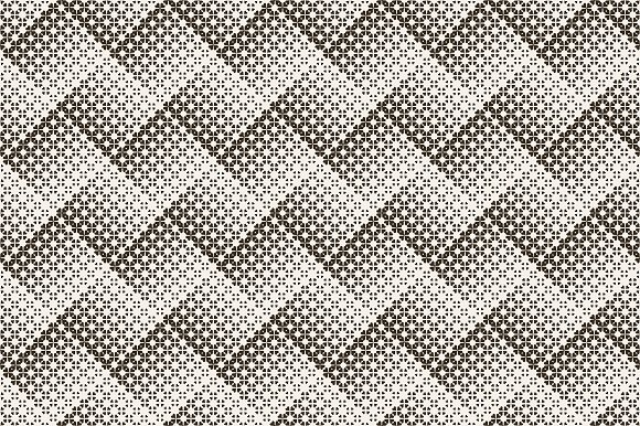 Halftone seamless zigzag backrgounds in Patterns - product preview 1