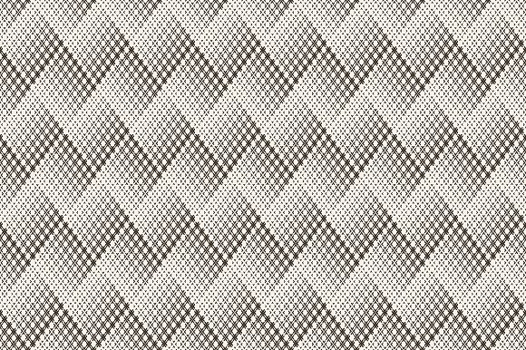 Halftone seamless zigzag backrgounds in Patterns - product preview 2