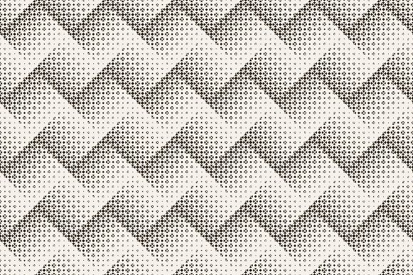 Halftone seamless zigzag backrgounds in Patterns - product preview 3
