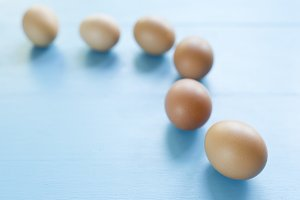 several eggs