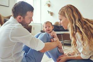 Crying babies make concerned parents