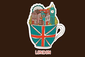 Vector London city illustration.