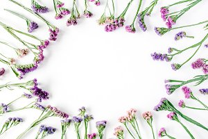 Floral frame with dried flowers