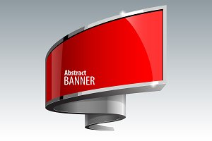 Shiny gloss red banner
