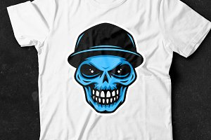 Vector Skull in Baseball Cap (6)