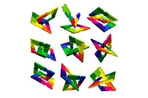 Puzzle vector elements