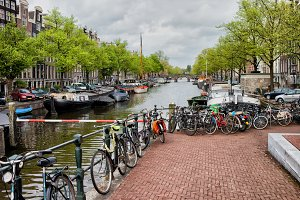 Canal Waterfront in Amsterdam