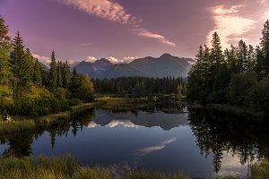 Lake and High Tatras