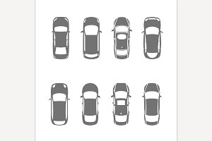 Cars Top View Icons