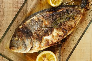 Roasted Sea Bream Fish