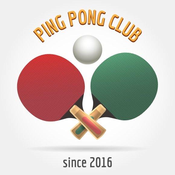 Table tennis logo photos graphics fonts themes templates table tennis retro logo fandeluxe Gallery