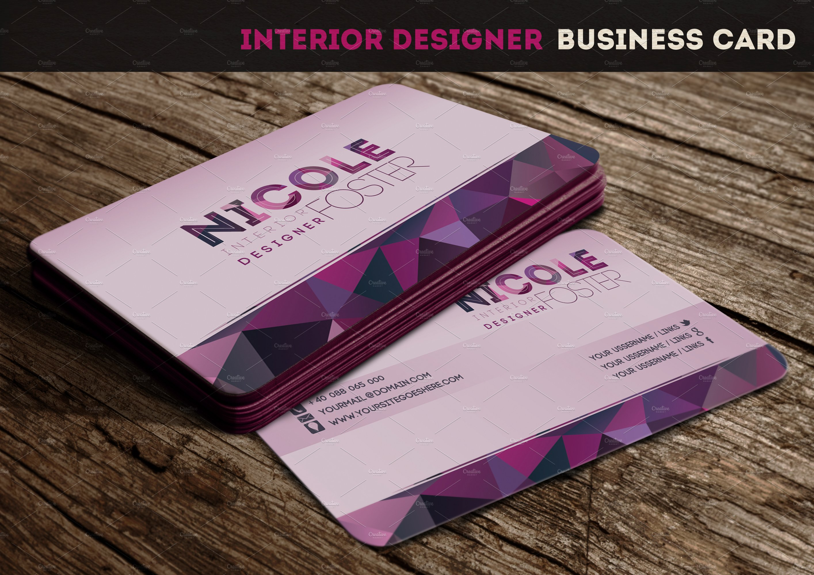 Interior designer business card business card templates - Business name for interior design company ...