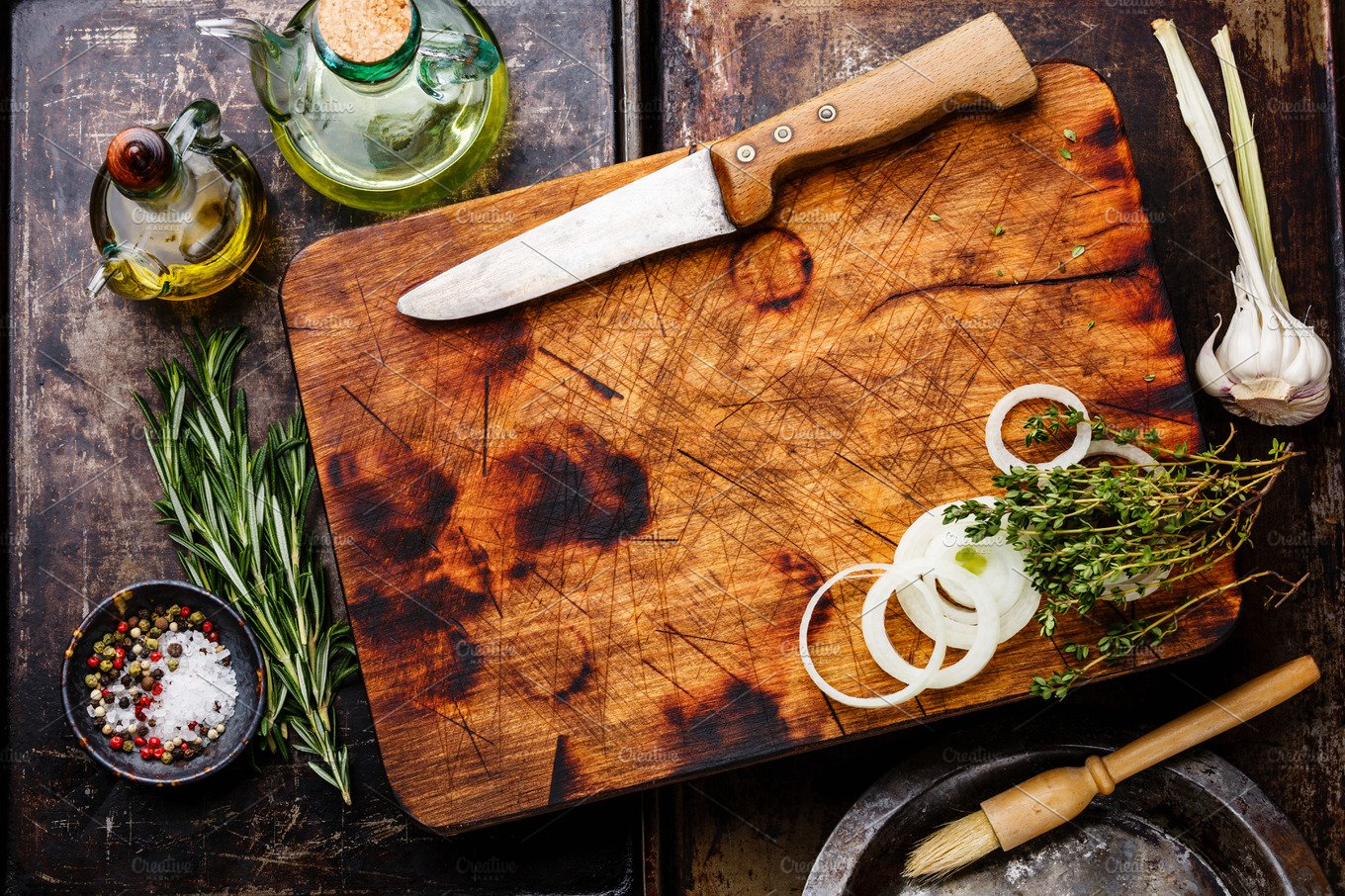 Wooden Chopping Board Background Food Amp Drink Photos